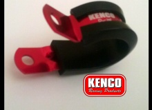 10 x Kenco Dash AN 6 Cushioned P Hose Clamp Red FREE POST*