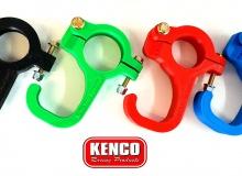 Kenco 38mm or 44.45mm Helmet / Steering Wheel Hook Rollbar Clamp   RED   FREE POST