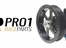 KRC Power Steering Pump Aluminium Oversize 6 Rib Serpentine Pulley