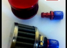 Red AN 6 Fuel Tank Breather Air Filter Kit